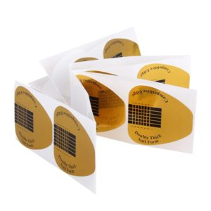 Формы одноразовые золотые широкие, 50 шт