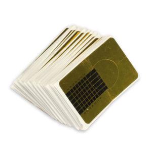 Формы одноразовые золотые узкие, 50 шт