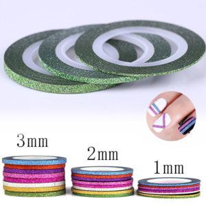 Самоклеющаяся лента бархатная ЗЕЛЕНАЯ ширина 1mm, 2mm, 3mm