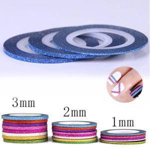 Самоклеющаяся лента бархатная СИНЯЯ ширина 1mm, 2mm, 3mm