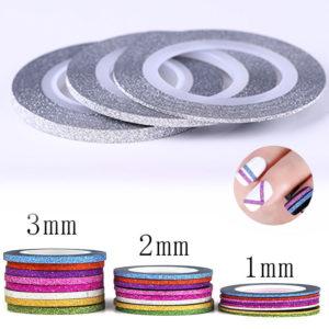 Самоклеющаяся лента бархатная СЕРЕБРО ширина 1mm, 2mm, 3mm