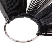 Дисплей-веер на кольце Черный, 50 шт