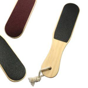 Пилка для педикюра двусторонняя, деревянная 100/180