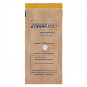 Крафт-пакеты для стерилизации 100х250мм КлиниПак, 100шт