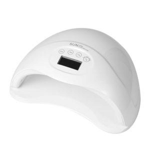 LED+UV Лампа с сенсором и дисплеем SUN5 Plus 48W, Белая
