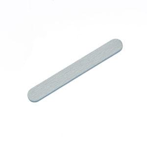 Пилка для ногтей 180/200, длина 11см, Серая
