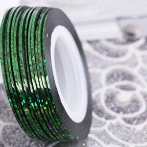 Самоклеющаяся лента №19, Зеленая голографическая