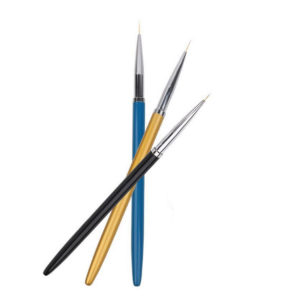 Набор кистей для дизайна ногтей Цветные, 3 шт