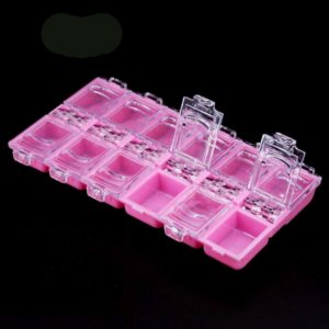 Контейнер с крышками для хранения декора, на 12 секций, Розовый