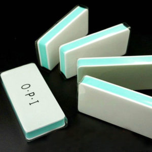 Баф (блок) полировочный 2-х сторонний OPI, зелено-белый