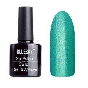 Гель-лак Bluesky №80615 бирюзово-зеленый с микроблестками, 10 мл