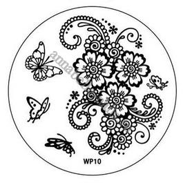 Диск с шаблонами для дизайна ногтей WP10