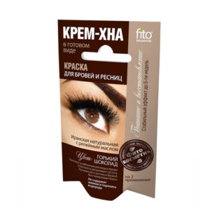 Крем-хна для бровей и ресниц Fitoкосметик, Горький шоколад, 2х2 мл