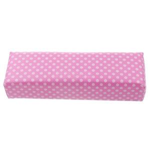 Подушка для маникюра и педикюра, Розовая в белый горох