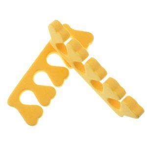 Разделитель пальцев для педикюра (пара), Желтые