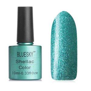 Гель-лак Bluesky №185 бирюзово-зеленый перламутр, 10 мл