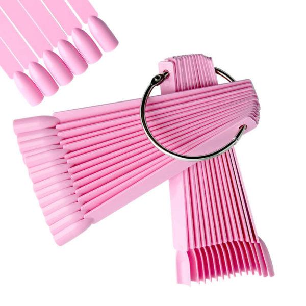 Дисплей-веер на кольце Розовый, 50 шт