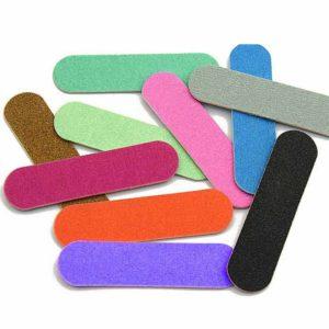 Пилка для ногтей тонкая 9см Овальная, в ассортименте