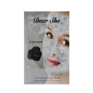Маска для лица пузырьково-угольная Dear She Charcoal 12g
