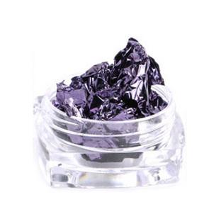 Фольга жатая в банке для ногтей, Фиолетовая