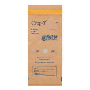 Крафт-пакеты для стерилизации 100х200мм Винар, 100шт