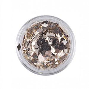 Ромбики для дизайна ногтей №18, серебро с позолотой
