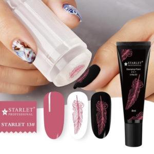 Гель-краска для стемпинга и дизайна ногтей 2в1 Starlet №13