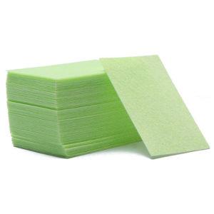 Салфетки безворсовые Жесткие, Зеленые ~60 шт