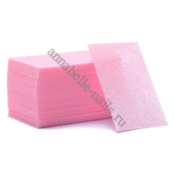 Салфетки безворсовые Жесткие, Розовые ~60 шт