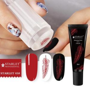 Гель-краска для стемпинга и дизайна ногтей 2в1 Starlet №03