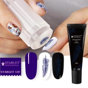 Гель-краска для стемпинга и дизайна ногтей 2в1 Starlet №12