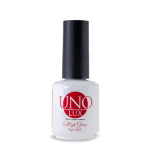 UNO Lux High Gloss Top Coat Верхнее покрытие без липкого слоя, 15мл