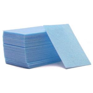 Салфетки безворсовые Жесткие, Голубые ~60 шт