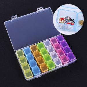 Пластиковый контейнер для хранения мелочей 28 ячеек, цветной