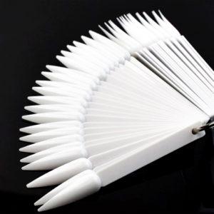 Дисплей-веер на кольце «СТИЛЕТ» белый, 50шт