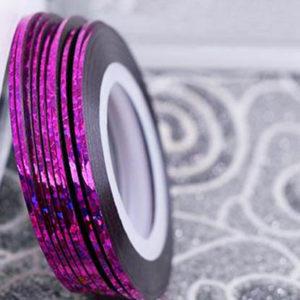 Лента самоклеющаяся №26, фиолетовая голографическая