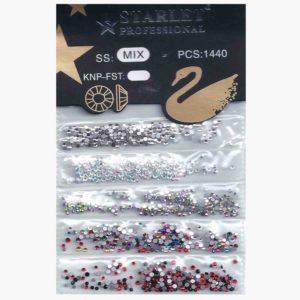 5в1 Стразы для ногтей ss1-ss5 MIX №02