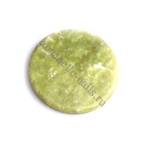 Нефритовый камень для клея Зеленый 4см