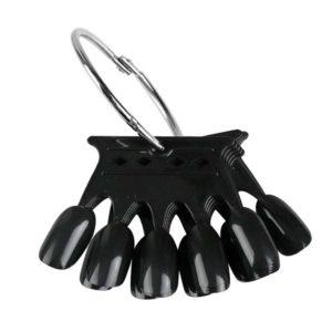 Палитра для лаков и дизайна «Корона» на кольце Черная, 50цв