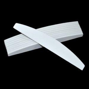 Пилка для ногтей белая, Полумесяц 120/180