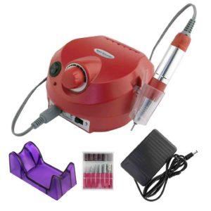 ZS-601, Аппарат для маникюра и педикюра 65W 45 000 об/мин, красный