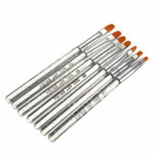 Набор кистей для геля (прозрачные ручки), 7шт