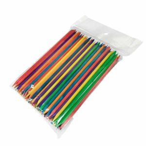 Апельсиновые палочки Цветные 11.5см, 100 шт/уп