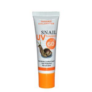 Cолнцезащитный тональный крем для лица Snail Tanako Sunscreen SPF 60+, 30мл