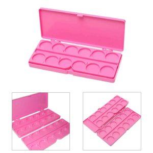 Палитра для смешивания красок с крышкой Розовая, 24 ячейки