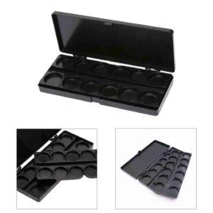 Палитра для смешивания красок с крышкой Черная, 24 ячейки