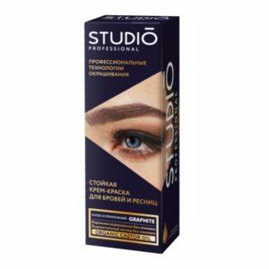 Studio, Крем-краска для бровей и ресниц Графит, 50мл