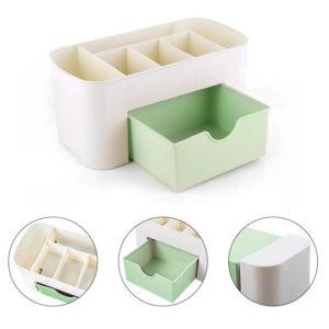 Органайзер для косметики 7 отделений, зеленый