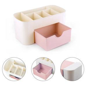 Органайзер для косметики 7 отделений, розовый