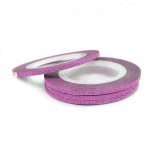 Лента самоклеющаяся «Бархат» №27, розовато-фиолетовая 2мм
